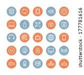flat line icons modern design... | Shutterstock .eps vector #177781616