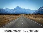 asphalt road heading to mount... | Shutterstock . vector #177781982