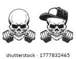 illustration of skull with... | Shutterstock .eps vector #1777832465