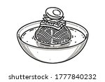naengmyeon. this is a korean... | Shutterstock .eps vector #1777840232