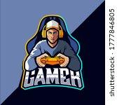 gamer esport logo design vector | Shutterstock .eps vector #1777846805