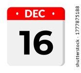 december 16   . calendar flat... | Shutterstock .eps vector #1777875188