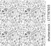 birthday background seamless | Shutterstock .eps vector #177787835
