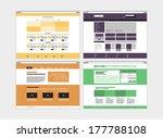 flat design style modern vector ... | Shutterstock .eps vector #177788108