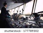 navigation officer driving the... | Shutterstock . vector #177789302