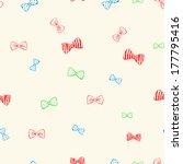 seamless vector backgrounf. bow ... | Shutterstock .eps vector #177795416