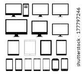 vector icon collection monitors