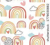cute colorful rainbow in autumn ...   Shutterstock . vector #1778030882