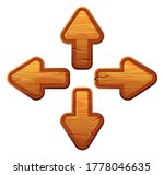 cartoon wooden arrow buttons...