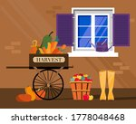 Autumn Harvest Concept With...