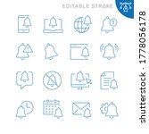 notification related icons.... | Shutterstock .eps vector #1778056178