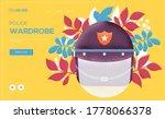 police helmet concept flyer ...