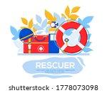 rescuer flyer  magazines ... | Shutterstock .eps vector #1778073098