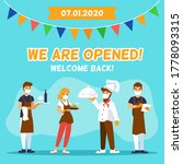 cafe re opening. restaurant are ... | Shutterstock .eps vector #1778093315