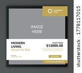 real estate home sale social...   Shutterstock .eps vector #1778117015