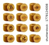 cryptocurrency physical coins... | Shutterstock .eps vector #1778124008