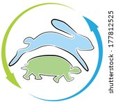 Stock vector an image of a tortoise hare race cycle 177812525