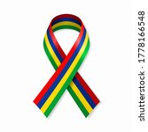 mauritius flag stripe ribbon on ... | Shutterstock .eps vector #1778166548