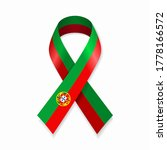 portuguese flag stripe ribbon... | Shutterstock .eps vector #1778166572