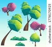 set of isolated cartoon natural ... | Shutterstock . vector #1778170925