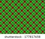 green heart 4 leaves clover | Shutterstock . vector #177817658