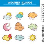 colorful  weather icon set ... | Shutterstock .eps vector #1778177708