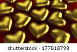 golden hearts | Shutterstock . vector #177818798