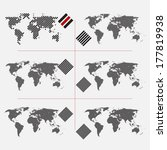 set of dotted world maps in... | Shutterstock .eps vector #177819938