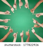 gesture and body parts concept  ... | Shutterstock . vector #177822926