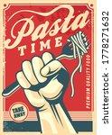 pasta design poster in retro... | Shutterstock .eps vector #1778271632