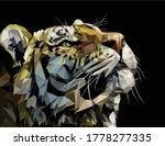 low poly vector art of tiger...   Shutterstock .eps vector #1778277335