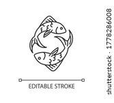 pisces zodiac sign pixel... | Shutterstock .eps vector #1778286008