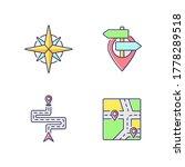 navigation rgb color icons set. ... | Shutterstock .eps vector #1778289518