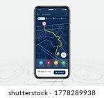 mobile map gps  smartphone map... | Shutterstock .eps vector #1778289938