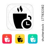 coffe cup with time icon....