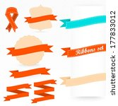 bright ribbons and labels set... | Shutterstock .eps vector #177833012