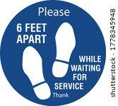 Please Stand 6 Ft Apart Floor...