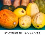 Assorted Squashes Close Up Wit...