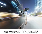 car on the road with motion... | Shutterstock . vector #177838232