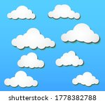 vector design of white clouds... | Shutterstock .eps vector #1778382788