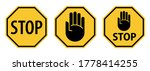 stop traffic signs with hand...   Shutterstock .eps vector #1778414255