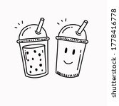 disposable cup of drink with... | Shutterstock .eps vector #1778416778