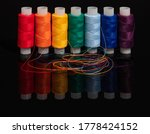 Colored threads for sewing...