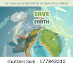 save the earth for the future... | Shutterstock .eps vector #177843212