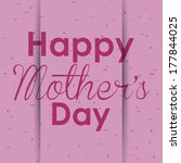 abstract happy mother's day... | Shutterstock .eps vector #177844025