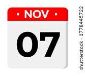 november 07 calendar icon  flat ...   Shutterstock .eps vector #1778445722