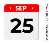 september 25 flat calendar icon ... | Shutterstock .eps vector #1778517932