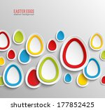 easter eggs abstract colorful... | Shutterstock .eps vector #177852425