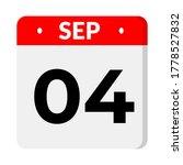 september 04 flat calendar icon   Shutterstock .eps vector #1778527832