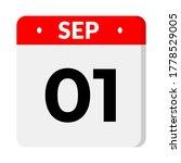 september 01 flat calender icon ...   Shutterstock .eps vector #1778529005